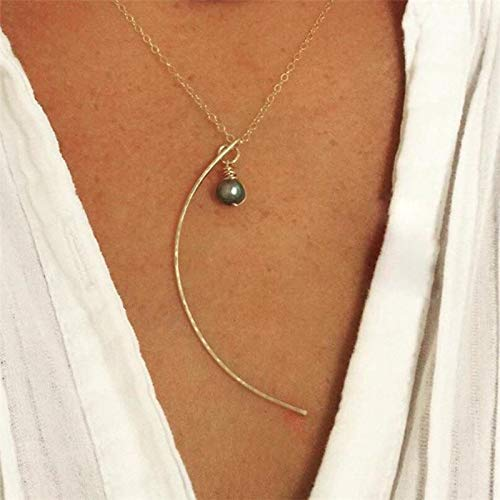 XTRSilver Moon Necklaces Natural Black Pearl Jewelry Handmade Gold Filled Pendant Vintage Choker Kolye Jewelry Women Necklace