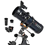 Celestron - AstroMaster 114EQ Newtonian Telescope - Reflector Telescope for Beginners - Fully-Coated Glass Optics - Adjustable-Height Tripod - BONUS Astronomy Software Package