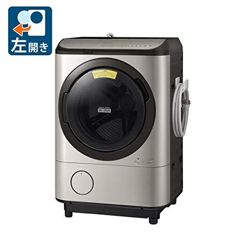 日立 【左開き】12.0kgドラム式洗濯乾燥機 ビッグドラム ステンレスシャンパン BD-NX120EL N