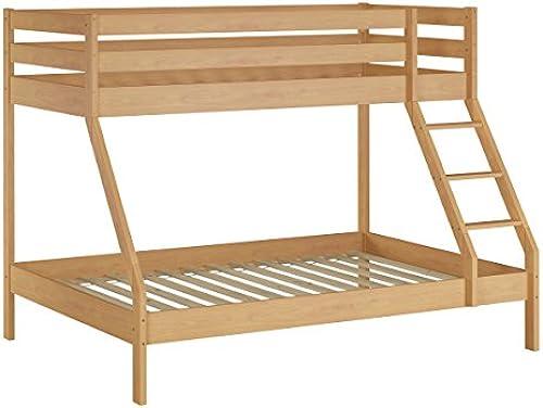 Erst-Holz oppelStückbett Etagenbett unten 140x200 Oben 90x200 Kinderbett 60.23-09-14