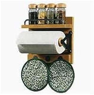 portarotolo in legno portarotolo per cucina e banchi da lavoro medium Wood Color Lulalula dispenser per carta igienica con base appesantita