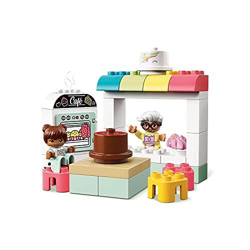 DUPLO Town LEGO10928 BakeryPlaysetwithCafeVan,CakesandCupcakes,LargeBricksforToddlers2+YearOld