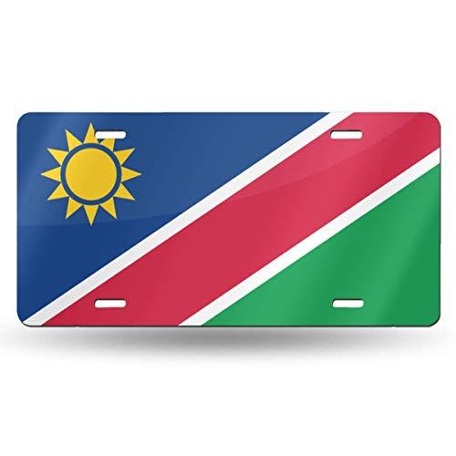 KLR6SYUI-T Namibia Flag Nummernschild Dekoratives Autokennzeichen, Waschtisch, Metallautoschild, Aluminium-Neuheits-Nummernschild