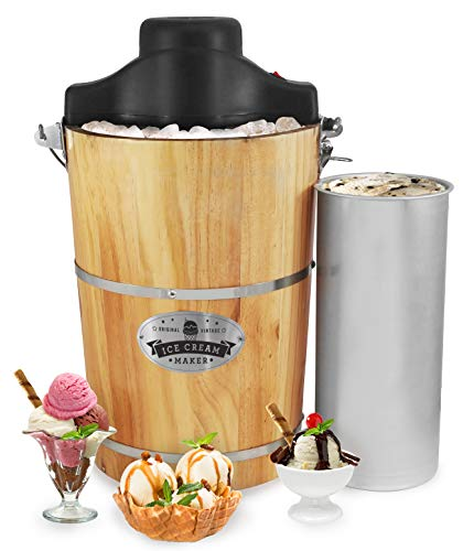 Elite Gourmet EIM-506 6 quart Old-Fashioned Ice Cream Maker...