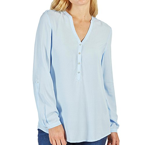 Esprit Damen 998EE1F802 Bluse, Light Blau (440), 01/18, 34