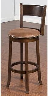 Sunny Design 1883DC Santa Fe Swivel Barstool, 30-Inch, Dark Chocolate