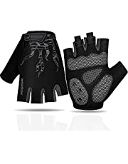 Faneam Mtb Half Finger Cycling Gloves Gel Padded Mitts Anti-slip Shock-absorbing Fingerless Gloves Outdoor Sports Summer Cycling Mitts Men's Half-finger Cycling Gloves For Men And Women