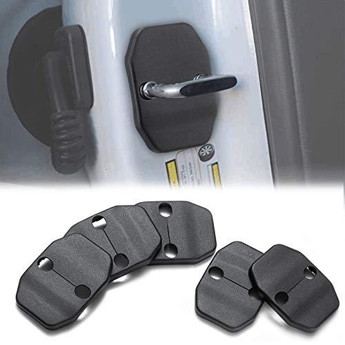 Door Lock Covers Protection Trim for 2007-2019 Jeep Wrangler JK JKU Grand Cherokee Chrysler (5PCS)