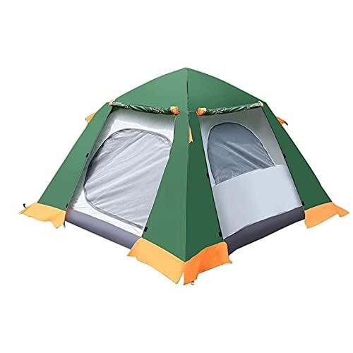 KJLY Tienda de campaña para 3 personas espesas, carpas emergentes para acampar, familia, al aire libre, tienda de playa, protección solar, impermeable, 200 x 200 x 145 cm