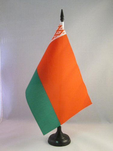 AZ FLAG Bandera de Mesa de BIELORRUSIA 21x14cm - BANDERINA de DESPACHO BIELORRUSO 14 x 21 cm