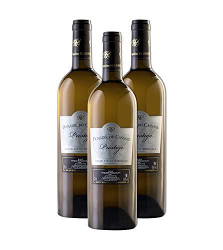 Vino blanco- Bordeaux Vino Prestige-Vino blanco seco e afrutado- Domaine du Cassard-Medalla de oro -3 botellas (3X750 ml)