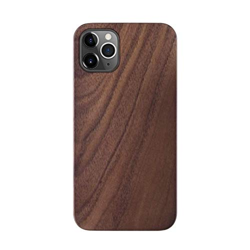 iATO Wood Case for iPhone 12 Pro Max. Unique Classy Open Top & Bottom Minimalistic Real Natural Walnut Wood Case designed for iPhone 12 Pro Max. Wooden Case Compatible with 2020 iPhone 12 Pro Max 6.7'