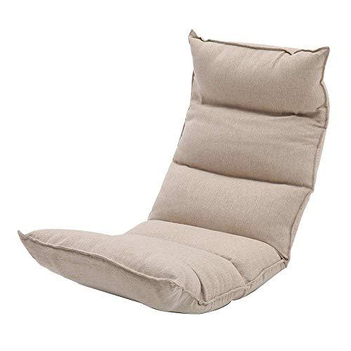 XKUN Sillón de Piso Moon Chair Sillón de Cama Extraíble Y Lavable Sillón de Piso Ajustable de Múltiples Posiciones para Niños Sillón Independiente de Algodón Bale Lazy Sofa para,Caqui