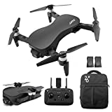x12 quad - GoolRC JJRC X12 GPS Drone with 4K HD Camera, 3-Axis Stabilized Gimbal, 5G WiFi FPV Brushless Motor Drone, Multi-Modes Positioning Foldable RC Quadcopter for Adults with 2 Battery and Handbag (Black)