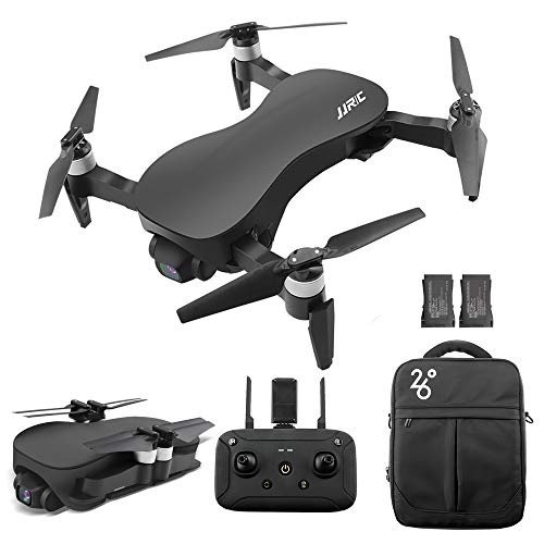 GoolRC JJRC X12 GPS Drone with 4K HD Camera, 3-Axis Stabilized Gimbal, 5G WiFi FPV Brushless Motor Drone, Multi-Modes Positioning Foldable RC Quadcopter for Adults with 2 Battery and Handbag (Black)
