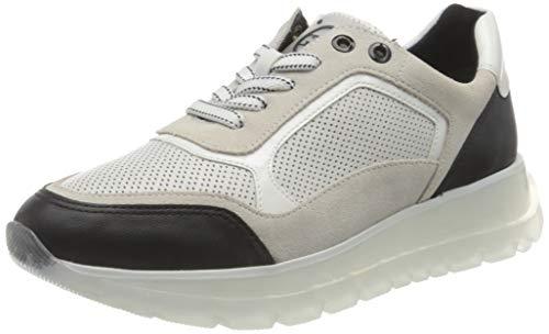 MARCO TOZZI Damen by Guido Maria Kretschmer 2-2-83702-26 Leder Sneaker, White/Black, 40 EU