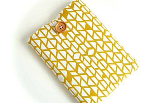 Yellow Triangles Kindle Sleeve, Kindle Case, Kindle Paperwhite, Amazon Fire, Custom Size