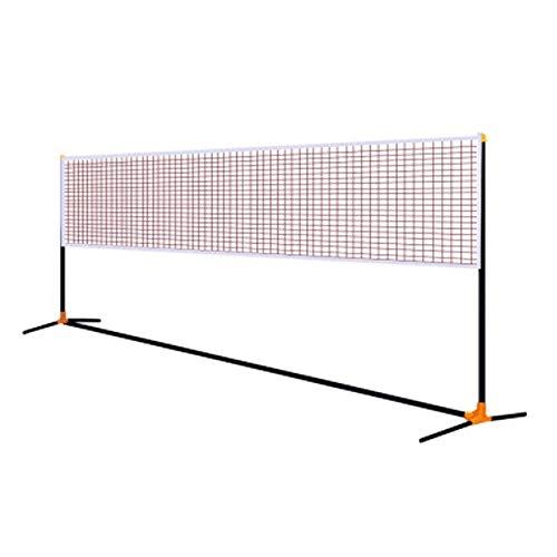 Marker Tragbare Badminton Net-Rack, Einstellbare Nets for Schlägersportarten, Tennis, Badminton und andere Spiele - Multiple Court Breiten (Size : 5.1m)
