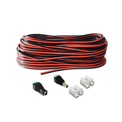20m/65.6ft 2 Pin LED Streifen Verlängerungskabel LED Strip Anschlusskabel LED Verbinder für SMD 3528 2835 5050 5630 einfarbige LED Streifen und andere DC 12V,24V LED Beleuchtung,led anschlusskabel