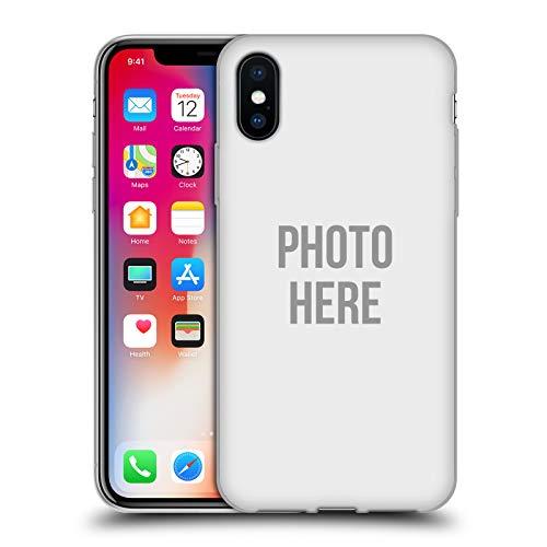 Head Case Designs Custom Customised Personalised Personalizado Foto Carcasa de Gel de Silicona Compatible con Apple iPhone X/iPhone XS