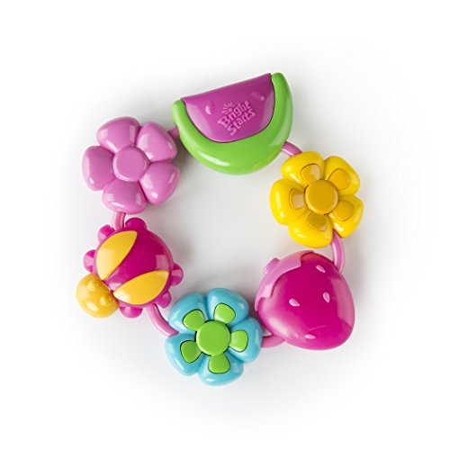 Find Bargain Bright Starts Pretty in Pink Teether, Buggie Bites