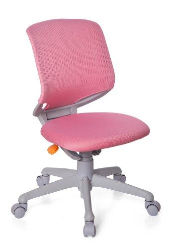 HJH OFFICE kinderbureaustoel/draaistoel Kid Move Voetkruis lichtgrijs roze/grijs