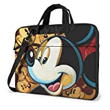 Gold Mickey Mouse Laptop Bag Business Briefcase for Men Women, Shoulder Messenger Laptop Sleeve Case Carrying Bag- 15.6 Inch