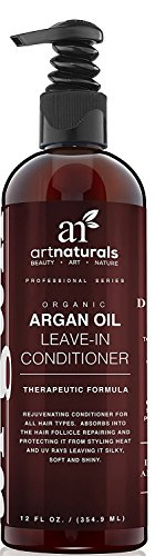ArtNaturals Aceite de Argan Orgánico Rejuvenecedor Acondicionador para Todos los Tipos de Cabello, 12 onzas ArtNaturals Organic Argan Oil Rejuvenating Leave-in Conditioner for All Hair Types, 12 ounce