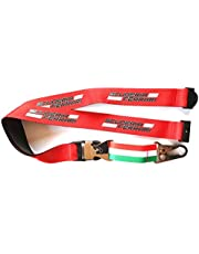 keycord Scuderia Italy 18 cm polyester rood