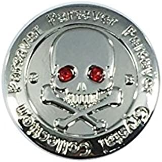 Parsaver Swarovski Crystal Golf Ball Markers w/Hat Clip - Skull and Bones Crystal Eyes - Gift Idea for Men and Women Golfers