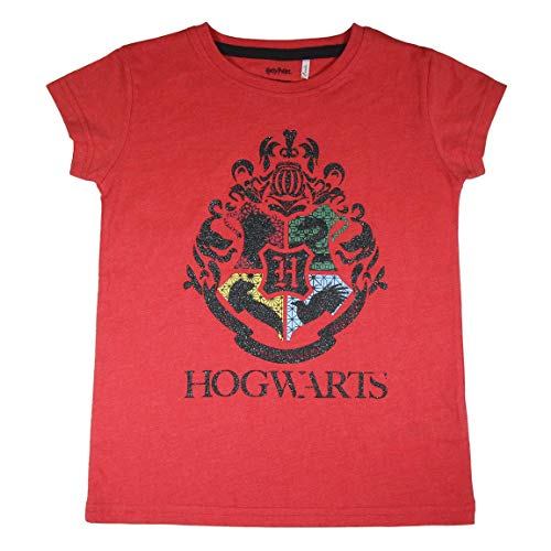 Cerdá Harry Potter Hogwarts para Niños de 8 Años de Color Rosa-100% Algodon Camiseta, Rosa