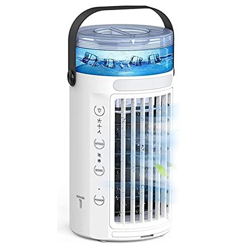 BUYYUB Ventilador Portátil, Silencioso Viento De 3 Velocidades, Pequeño Enfriador De Aire Que Se Puede Llenar con Agua, Adecuado para El Hogar O La Oficina