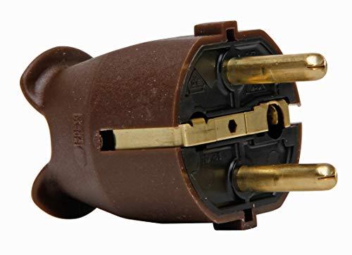 Kopp Schutzkontakt-Stecker braun, 175706004