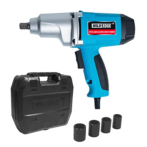 Wild Edge Impact Wrench, 7.5 Amp, 240 ft-lbs, 1/2 Inch Drive Heavy Duty Electric Impact Wrench Kit