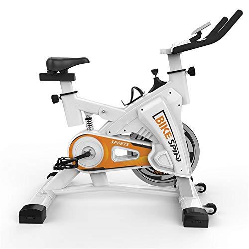 Yuefensu Esercizio di Bicicletta Indoor Ultra-Silenzioso Verticale Cyclette è Adatta for Interni Home Gym 200KG Aerobica Peso-Cuscinetto (Colore : White, Size : 106-116x49x101cm)