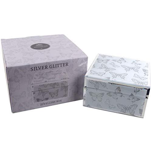 The Leonardo Collection - Portagioie quadrato con farfalla, in confezione regalo