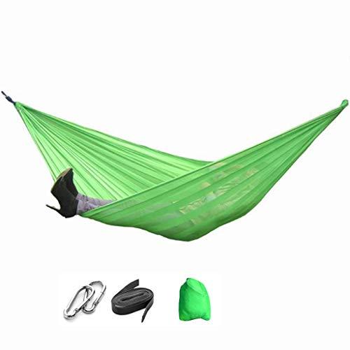 Hamacs, Meubles de Camping Double balançoire extérieure Maille Respirante Rangement Pratique Respirant et Charge Douce 300 kg (Couleur: Vert, Taille: 230 * 160 cm) Confortable