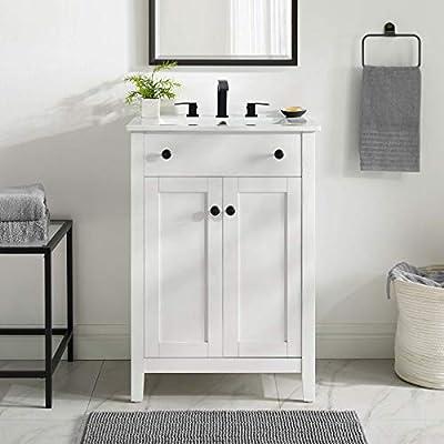 "Modway Nantucket 24"" Bathroom Vanity in White, 24 Inch"