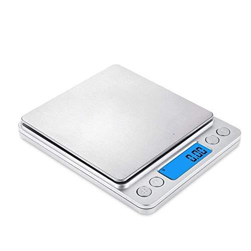 WOHAO Báscula de baño Digital Báscula electrónica báscula electrónica portátil balanza Digital Escala Romana 3kg 0.1g (Color : A)