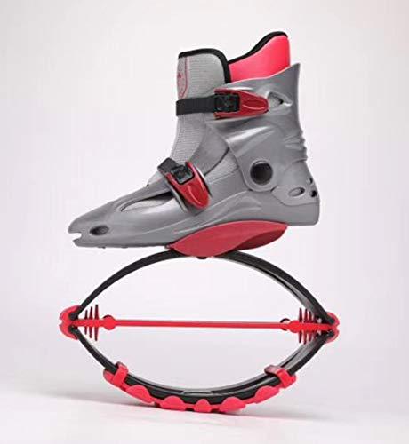 JJZXLQ Zapatos de Canguro Botas de Salto Botas antigravedad con zancos Que rebotan Jump Fitness Dance Zapato Yoga Mujeres Fitness Home Gym,D,M