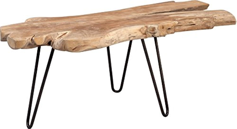 HomeTrends4You Tallus Couchtisch, Holz, Teak, 100 x 40 x 40 cm