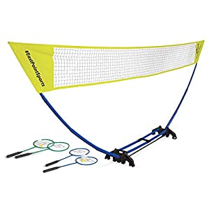 EastPoint Sports Easy Setup Badminton Set, 10 Minute Set Up, Storage in The Base, Fun for All Ages
