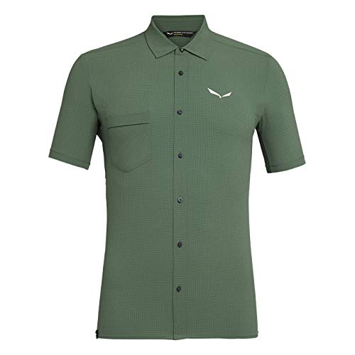 Salewa Herren Hemden und T-Shirts Puez MINICHECK2 Dry M S/SRT, Myrtle, 48/M, 00-0000027736