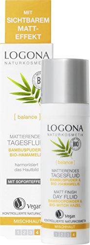 LOGONA Naturkosmetik Mattierendes Tagesfluid, Verfeinert & harmonisiert das Hautbild, Verwöhnt die Mischhaut, Vegan, 30ml