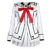 Anime Vampire Knight Kuran Yuki Cross Cosplay Costume White (Female XL)