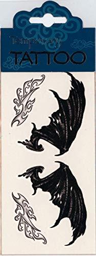 Horror-Shop Ailes de Tatouage d'aile de démon