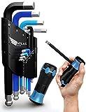 Atlas Armand® Premium Innensechskant Satz HX - T Griff - ColourGrip - ergonomisch & grifffest - kraftvolles CRV Sechskantschlüssel Set - Kugelköpfe