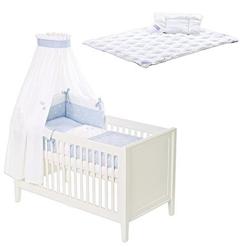 Träumeland Bettset 6-teilig inkl. Steppbettset Krönchen blau
