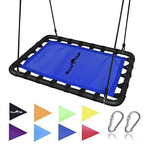 Royal Oak Giant Platform Tree Swing, Bonus Protective Swing Cover and Flags, 700 lb Weight Capacity,...