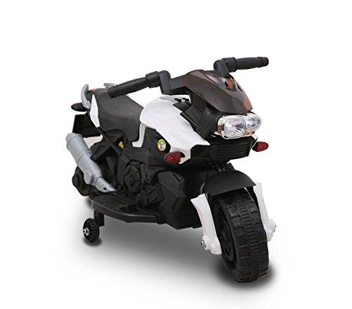 Moto elettrica BIANCA LT868 per bambini SPRINT controllo a pedale con luci e suoni. MEDIA WAVE store ®